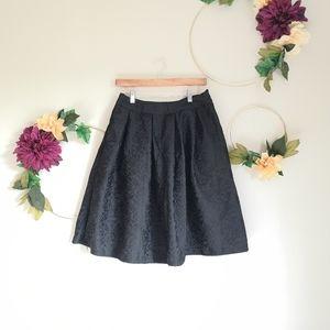 Full black midi skirt